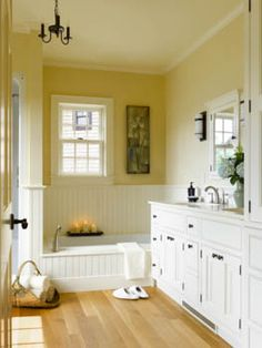 A pretty bathroom in a new-old house designed and built by Connor Homes. Rustic Bathroom Shelves, Rustic Bathroom Designs, Rustic Bathroom Vanities, Bathroom Ideas, Victorian Bathroom, Vintage Bathrooms, Bathroom Cabinets, Bath Ideas, Connor Homes