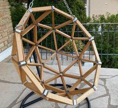 Geodesic Dome, Wooden Projects, Swinging Chair, Woodworking, Home Decor, Gardens, Home, Wood Projects, Decoration Home
