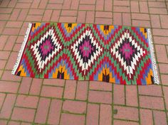 Check out this item in my Etsy shop https://www.etsy.com/listing/520884179/colorful-turkish-kilim-rugflat-weave