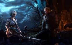 The witcher 3: wild hunt, video game, ciri and warrior