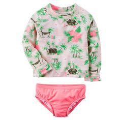 Baby Girl Carter's Floral Rashguard Set | Carters.com