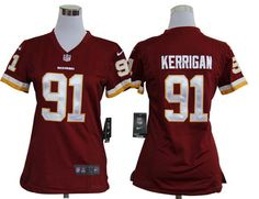 Nike Redskins #91 Ryan Kerrigan Red Team Color Womens NFL Game Jersey And #nfl jersey online shop legit