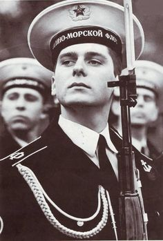 Honor Guard of the Soviet Navy. Soviet Navy, Evil Empire, Honor Guard, Military Love, Military Personnel, Red Army, Photomontage, How To Memorize Things, Cold War