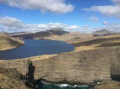 trælanípa(slave cliff). Bad story in the past at this point. #føroyar #visitfaroeislands #atlanticairways by marklonimit