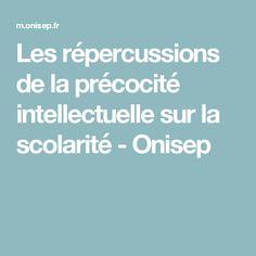 Les répercussions de la précocité intellectuelle sur la scolarité - Onisep