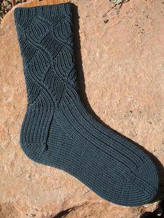 Ravelry: Cobblestone Walk Socks pattern by Debbie O'Neill Best Picture For babysocken stricken fuchs Knitting Patterns Free, Free Knitting, Baby Knitting, Knitted Gloves, Knitting Socks, Ravelry, Patterned Socks, How To Purl Knit, Sock Yarn