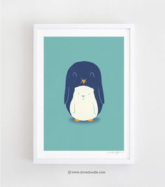 My belly is a polar bear - Art print - ilovedoodle - The visual art of Lim Heng Swee