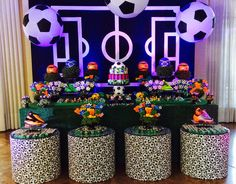 New Baby Onesies Football Kids Ideas Soccer Birthday Parties, Birthday Party Decorations, Baby Cartoon Drawing, Soccer Decor, Soccer Baby, Babies First Christmas, 1st Birthdays, Baby Boy Shower, Party Planning