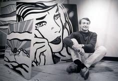 Roy Lichtenstein in his Studio