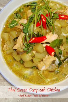 Thai Green curry with Chicken | Comforting stomach and soul! Lower fat simpler homemade version.