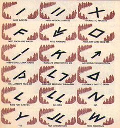 Lost in the woods and need help? Here are some distress signals.