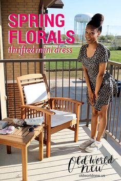 Spring Florals: Thrifted Mini Dress via <OldWorldNew.us>