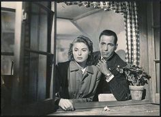 Ingrid Bergman and Humphrey Bogart in Casablanca 1942.