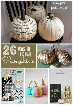 26 ways to decorate pumpkins