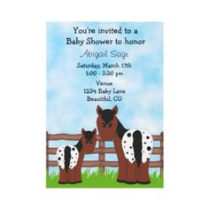 Cute Appaloosa Horse Baby Shower Invitations