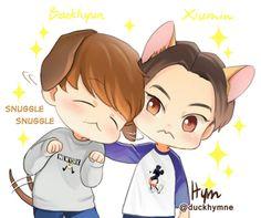Baekhyun & Xiumin|Minseok | XiuBaek fanart by Hym #duckhymne | EXO