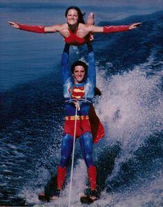 Superheros water skiing?