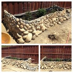 Give a raised bed a more natural feel by using rocks to create the walls. Learn how from skillion at Instructables.