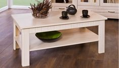 Konfereční stolek - dřevěný Konferenční stolek Tampere typ 45 (Vanilka patina)