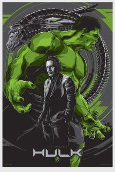 Cartaz do filme Hulk  ilustração por Ken Taylor.