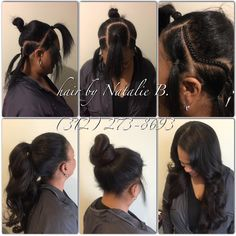PERFECT PONY SEW-IN HAIR WEAVES by Natalie B. (312) 273-8693...IG…
