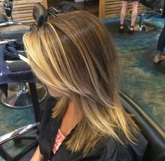 Carly created this beautiful and low maintenance balayage highlight! Beliage Hair, Kid Hair, Blonde Balayage Highlights, Hair Color And Cut, Hair Colour, Strawberry Blonde, Great Hair, Pretty Hairstyles, Hair Looks