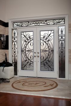 Top Modern Wrought Iron Doors for an Elegant Entry to Your House – Interior Design wrought Iron Door designs Steel Gate Design, House Gate Design, Door Gate Design, Door Design Interior, Front Door Design, Iron Front Door, Front Doors, Entrance Doors, Front Entry
