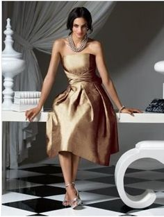 Gold/Bronze Bridesmaid dresses