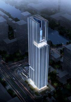 Bravo Pazhou Tower Seeks To Unite Two Programs Into A Single Composition   Aedas - eVolo   Architecture Magazine