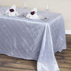 in Lavender Pintuck Tablecloth Table Cover Wedding Linens Banquet Tablecloths, Banquet Tables, Chair Covers, Table Covers, Lavender Wedding Decorations, Table Overlays, Pin Tucks, Wedding Linens