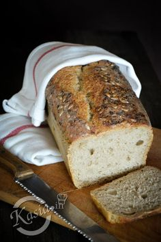łatwy chleb na zakwasie bez wyrabiania Pan Bread, Bread Baking, Bread Recipes, Cooking Recipes, Cheese Lover, Polish Recipes, Mexican Food Recipes, Banana Bread, Food To Make