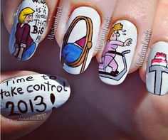 Just some funny New Years resolution nails! Enjoy!