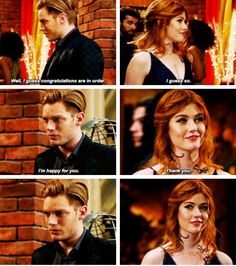 The pain in Jace's eyes😢 Shadowhunters Tv Show, Shadowhunters The Mortal Instruments, Clary E Jace, Dominic Sherwood, Clace, Katherine Mcnamara, The Dark Artifices, City Of Bones, The Infernal Devices