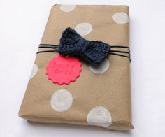 Painted Polka Dot Wrapping Paper - 15 Easy Gift Wrapping DIYs
