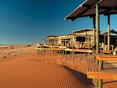 Wolwedans Dunes Lodge, Namibia - combine this with a hot air balloon safari to see sunrise over the surrounding dune-scape for an unforgettable experience! Hotels And Resorts, Best Hotels, Amazing Hotels, Dune, Road Trip, Namibia, Dark Skies, Vacation Packages, Travel And Leisure
