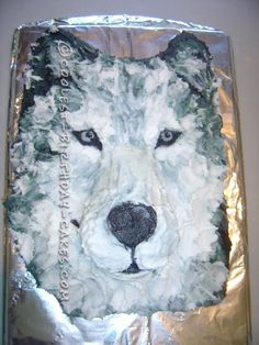 Cool Realistic Wolf Cake For My Daughter...