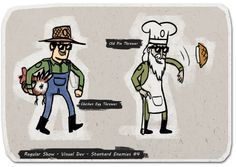 """Character design for Cartoon Network's """"The Great Prank War"""" game based on the Regular Show."""
