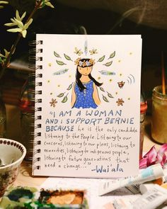 "Couldn't wait for sunrise to share @w_a_i_a_l_a 's words. I couldn't fit them all so they continue ""... a change that only Bernie Sanders is offering and has embodied his entire career. Bernie is the change that America and the world needs. He's got the Aloha spirit and has always had it from the start. Mahalo!"" #mckenziepaintswomenforbernie   Read on if you want to be super inspired and moved to tears. (I couldn't read it to Matt without losing it.) This is part of what Wai'ala wrote about…"
