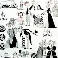 New Ghastly Family Reunion Fabric    How Cute!!  Same colors :green, mauve and white.