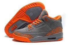 Air Jordan 3 womens orange grey