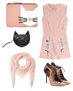 """Carl cat bag"" by natashakorol on Polyvore featuring Karl Lagerfeld, RED Valentino, Malone Souliers and Faliero Sarti"