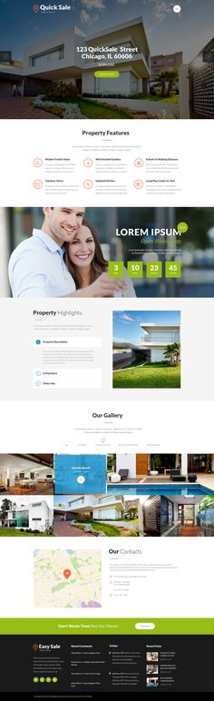 Quick Sale | Single Property Real Estate Theme is a premium wordpress theme crafted both for real estate agencies and property owners.