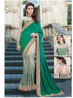 New Indian Bollywood Party wear designer Saree with Blouse heavy designer saree | eBay