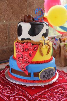 Cowboy Themed Birthday Cake