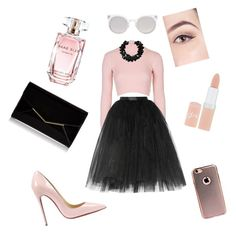 """§Ω§§¥"" by tbrooker on Polyvore featuring Topshop, Ballet Beautiful, Christian Louboutin, Kosha, Furla, First People First, Elie Saab and Rimmel"