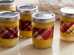 DIY preserved lemons with ribbon detail.