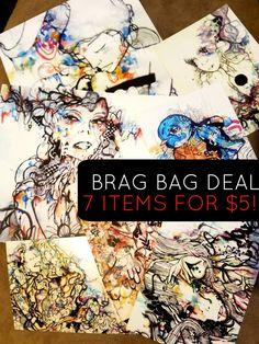 Grab Bag  Deal  Art Grab Bag  Watercolor Art by ArtOfPrincessM