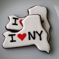 I Love New York Cookies by BitesBakedGoods on Etsy, $30.00