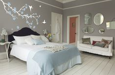 decoracion con vinilos dormitorios matrimonio