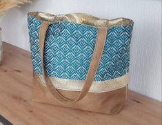 Linen Bag, Japanese Fabric, Large Women, Japanese Design, Natural Linen, Blue Fabric, Womens Tote Bags, Beige, Shopping Bag